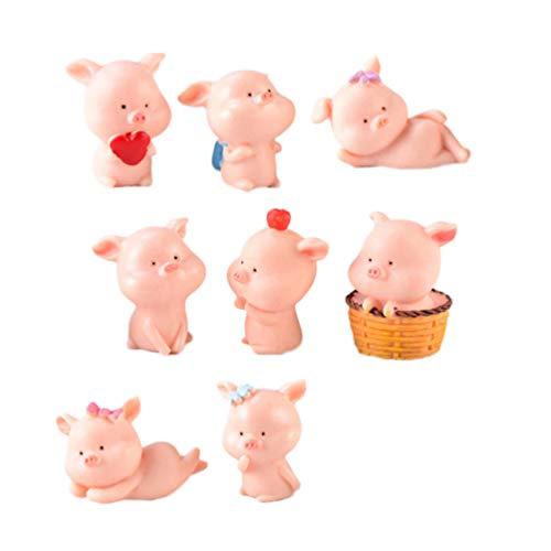 KESYOO 9 Piezas de Figuras de Cerdos en Miniatura Lindo Micro Paisaje...