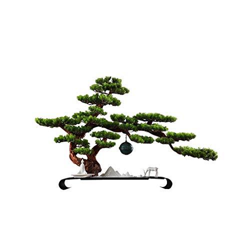 Vaso antico Cinese Zen-Like Fike Tree In Vaso Benvenuto Pino Simulazione dell'albero Albero...