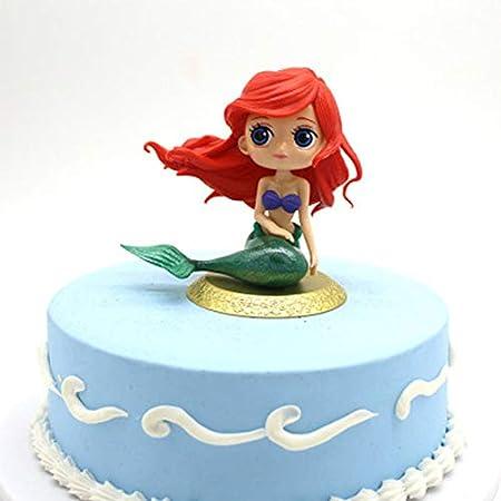 Watooma Decoración para tartas de sirena, decoración para tarta de cumpleaños, arco iris (sirena)