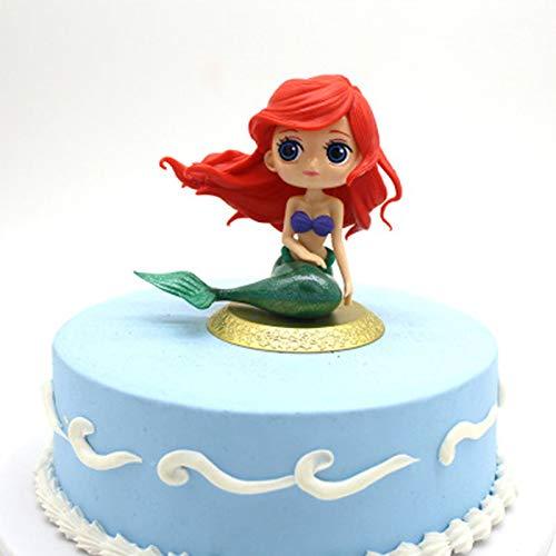 Watooma Meerjungfrau Kuchendeckel Mermaid Doll Cake Topper Tortenstecker Tortentopper Kuchendeko für Geburtstag Torte Regebogen Kuchen Aufsatz Sticks (Meerjungfrau)