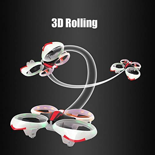 Drone LED de Juguete, Modelo eléctrico de Juguete para niños Quadcopter Toy Drone Quadcopter Toy, Drone de Control Remoto Cool LED Light Aircraft para niños Adultos(Red)