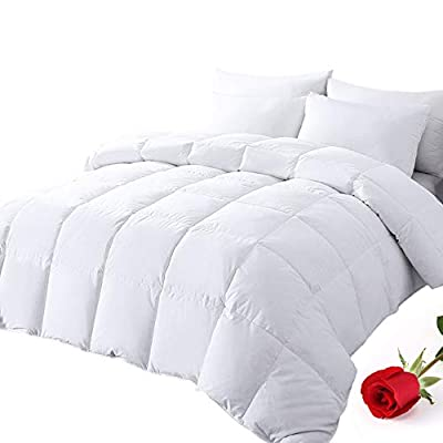 Amazon - Save 15%: DOWNCOOL 100% Cotton Quilted Down Comforter with Corner Tabs – White…