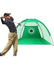 Qdreclod Redes de práctica para Golf, 2M Red de Práctica de Golf Redes de Golf al Aire Libre en Interiores Red de práctica de Golf con Ayuda para Entrenamiento de Golf