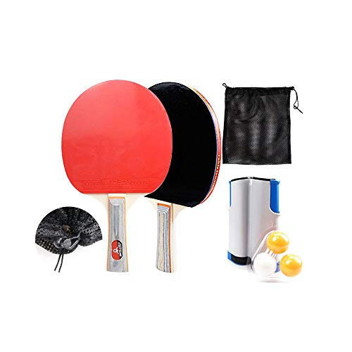 Learn More About FEUON Ping Pong Paddle Set Professional Table Tennis Racket Set with Retractable Ne...