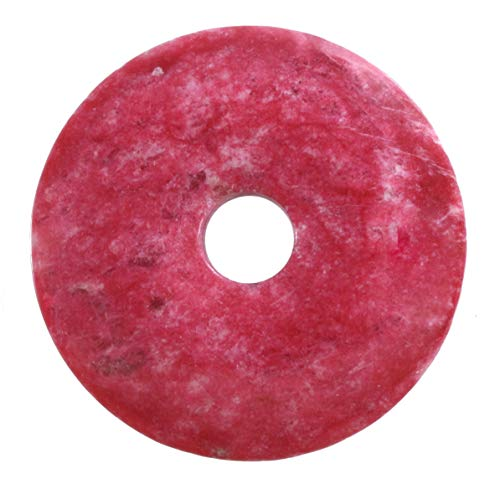 Lebensquelle Plus Thulit rot Edelstein Donut Ø 40 mm Anhänger