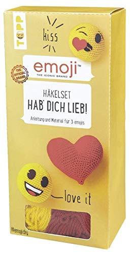 Emoji Häkelset Hab' dich lieb!: Anleitung und Material für 3 trendige Emojis zum Selberhäkeln