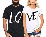 Lo Ve - Partner-T-Shirt Damen und Herren - 2 Stück - Couple-Shirt Geschenk Set für Verliebte - Partner-Geschenke - Bestes Geburtstagsgeschenk - Partnerlook