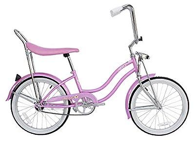 "Micargi Women's Beach Cruiser Bike 20"" 1.75 Tire Micargi 20"" Cruiser HI-TENSILE Steel Frame Hero (Pink)"