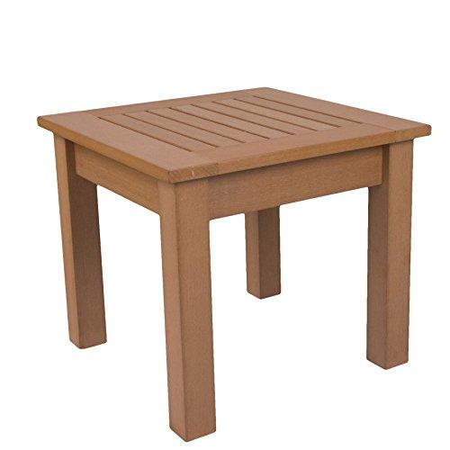 SCHWEEN24 - Mesa auxiliar para silla Adirondack (imitación de madera, madera sintética), marrón