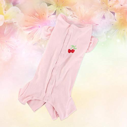 SALUTUYA Disfraz de Perro Mascota Simple, Disfraz casero de Perro Gato, Adopta, Hecho de Material de algodón(Pink, M)