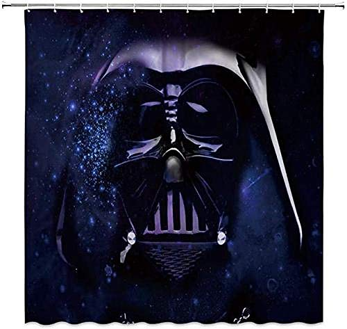 YUJEJ801 Star Wars Darth Vader Shower Curtain 100% Polyester Decorative Bathroom Curtains Waterproof Mold-proof Anti-Bacterial With 12 pcs Hooks Privacy Protection For Home and Hotel 180x180cm