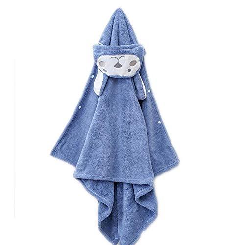 OMKMNOE Toalla De Capucha, para Bebés Toalla De Bebé Hecha De 100% Algodón Toalla De Toalla De Toalla De Toalla con Una Toalla Absorbente Esponjosa para Niños De hasta 5 Años,Azul