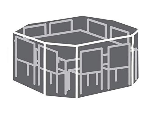 Perel Garden OCGS08 Housse de Protection pour Salon de Jardin 8 Angles Noir 220 x 220 x 95 cm