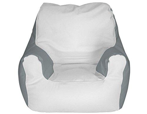 E-SeaRider Armchair Marine Beanbag, White/Grey, Medium