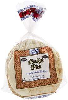 Kontos Pocket Pita Traditional White - 6 CT