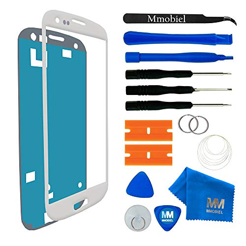 MMOBIEL Kit de Reemplazo de Pantalla Táctil Compatible con Samsung Galaxy S3 Mini i8190 Series (Blanco) Incluye Pinzas Cinta Adhesiva Kit de Herramientas Limpiador Alambre Manual de Instrucciones