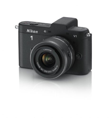 Nikon 1 V1 + 1 Nikkor 10-30mm Fotocamera digitale ad ottiche intercambiabili, 10 Megapixel, SD 8GB Pro 133X Lexar, colore: nero [Nital card: 4 anni di garanzia]