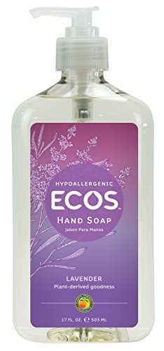 ECOS Hypoallergenic Hand Soap, Lavender, 17oz Bottle by Earth Friendly Products (Pack of 6)