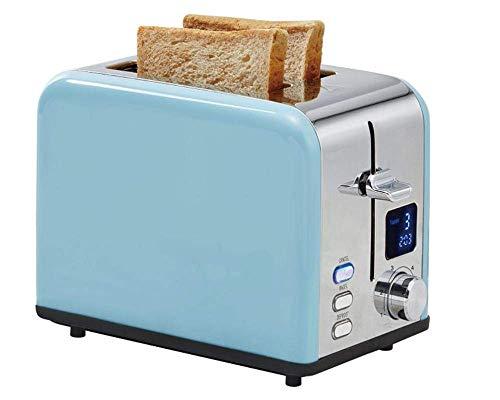 YGB Multifunktions-Profi-zierlicher Legacy-Toaster mit Pastell-Finish - Zwei Scheiben Edelstahl-Edelstahl-LCD-Bildschirm Multifunktion