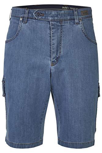 aubi: Herren Sommer Jeans Cargo Shorts Stretch aus Baumwolle High Flex Modell 616 Bleached Größe 27
