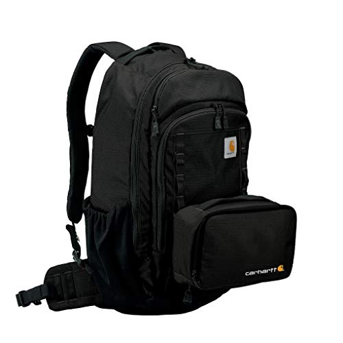 Carhartt Cargo Series Large Backpack and Hook-N-Haul Insulated 3-Can Cooler, Black