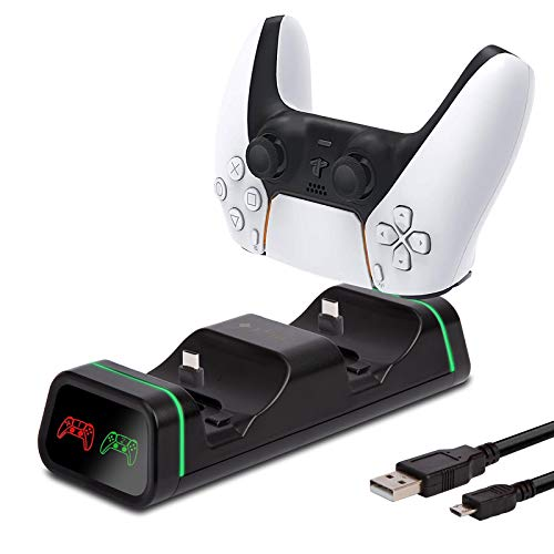Cargador para Mandos Playstation 5 DualSense, Base de Carga Dual PS5 con...