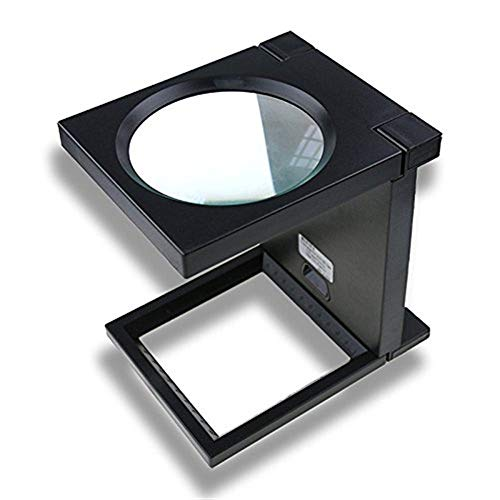 Faltlupe mit Lampenglas, Klapplupe Desktop, 90 Mm Lupe, Bücher lesen, Zeitung, Karten, Münzen, Schmuck (Farbe : 90mm)