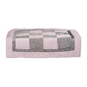 bkb Crocodile Minky Patchwork Toddler Comforter, PinkGrey