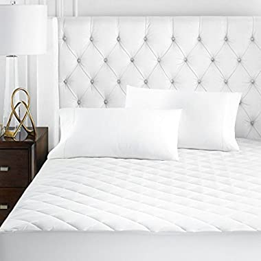 Beckham Hotel Collection Microfiber Mattress Pad - Quilted, Hypoallergnic, and Water-Resistant - King