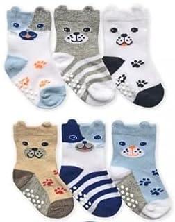 Jefferies socks ジェフリーズ ソックス ワンちゃん靴下 6足セット 滑り止め付 [2350D]