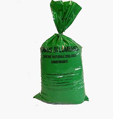 Humus Di Lombrico Sacco kg.20 o Litri 50 Concime E Fertilizzante Biologico