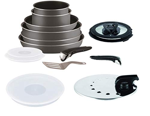 Tefal Ingenio 15 Piece Pan and Accessory Set Anthracite Grey Non Induction