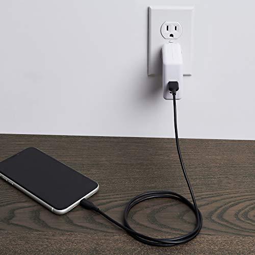 Amazon Basics – Verbindungskabel Lightning auf USB-A, MFi-zertifiziertes Ladekabel für iPhone, schwarz, 91,2 cm