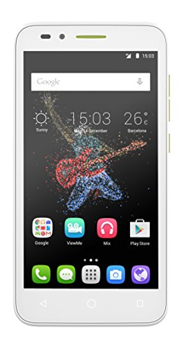 Alcatel Onetouch Go Play 12,7 cm (5 Zoll) Smartphone (IPS Display, 8 Megapixel Kamera, LTE, Android 5.0) weiß/blau/gelb