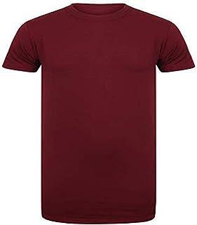Athletic Sportswear Mens Longline T-Shirts Short Sleeve Premium Quality Cotton Top Plain Designer Tee Shirt 95% Cotton, 5%...