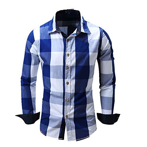 NOBRAND Camisa de manga larga casual para hombre