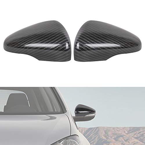AUFER Cubierta de la carcasa del espejo retrovisor Tapa de la cubierta del espejo retrovisor Compatible para Golf 6 MK6 R VI 2009-2013