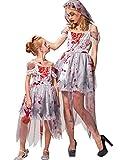 IKALI Disfraz de novia zombi para mujer, Halloween, cementerio, Ghost Corpse Gown Mamá y yo
