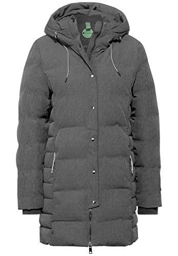 Street One Damen Mantel mit moderner Steppung Frost Grey Melange 40