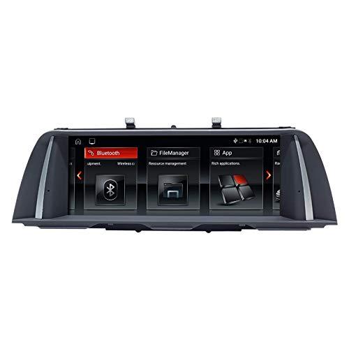 Navegador GPS Navegador GPS para coche Android 10 Estéreo automático para BMW 5 Series F10 F11 Sistema NBT Quad Core 2GB RAM 32GB ROM con sistema iDrive Retenido Pantalla táctil de 10.25 pulgadas con