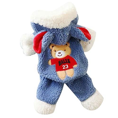 YiiJee Haustier Kleidung Hundepullover Hunde Kleider welpen Pullover Hunde Warmer Mantel für Katzen Kleine Hunde Winterjacken Mäntel für Herbst und Winter 2 L