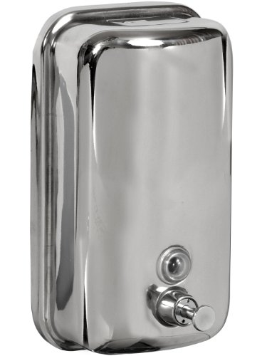 Bisk 01416 Dispensador de jabón 1000ml, Acero Inoxidable