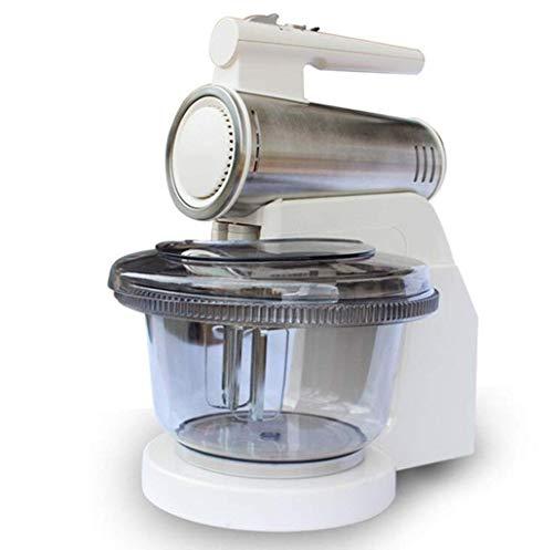 GPWDSN keukenmachine, blender, 120 W, verstelbaar, 6 snelheidsniveaus, met N-haken, kneedhaken van roestvrij staal, inhoud 2,5 l