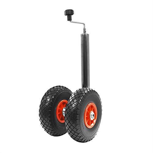 APT Stützrad, Bugrad für Anhänger, Wohnwagen 60mm oder 48 mm 300-400KG verzinkt (Zwillingsrad PU)