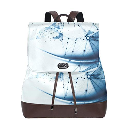 Flyup Women Leather Source Of Computing Backpack Purse Trave