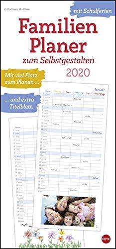 Familienplaner zum Selbstgestalten. Bastelkalender 2020. Monatskalendarium. Spiralbindung. Format 21 x 45 cm
