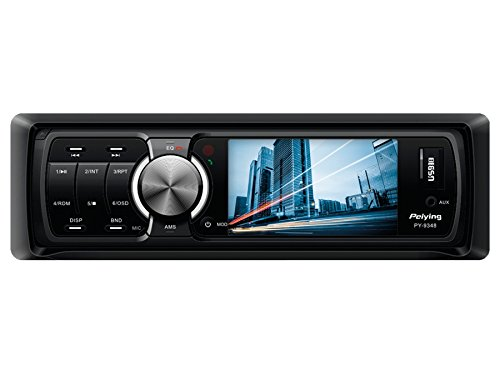 Peiying PY9348 autoradio, autoradio met Bluetooth, USB, SD, AUX, 4 x 40 W, 1 DIN, TFT display 3 inch, MP3