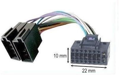 Cable Adaptador ISO para Radio de Coche JVC (16 Pines 10x22mm) TechExpert