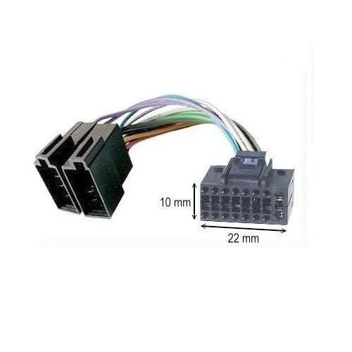 TechExpert C/âble Adaptateur ISO autoradio JVC 16 pins 10 x 22 mm