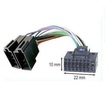 Cavo adattatore ISO Autoradio JVC 16 Pins 10 x 22 mm